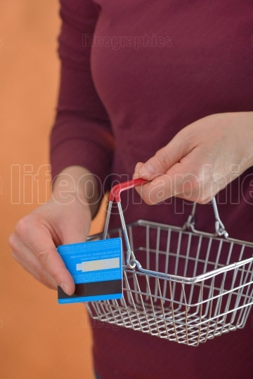 Shopping Cart and woman