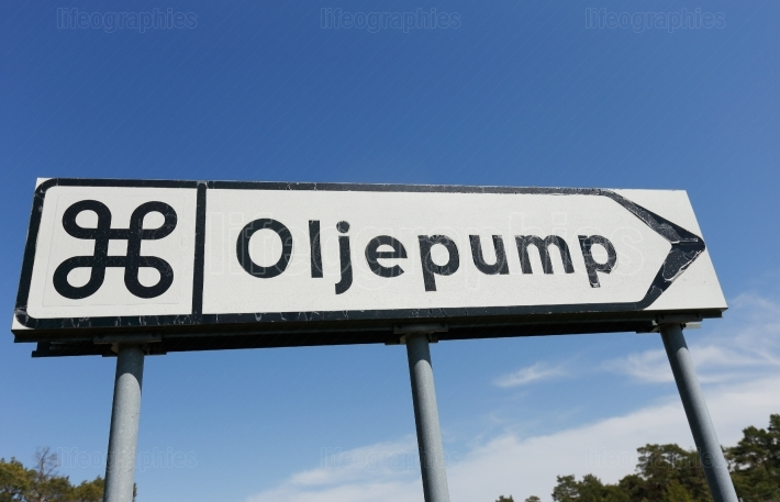 Signpost for oil pump