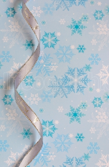 Silver decorative ribbon