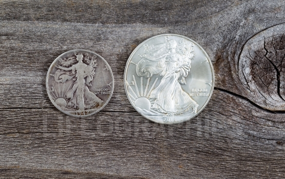 Silver Half dollar and Dollar coins