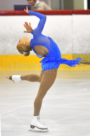 Skater competing