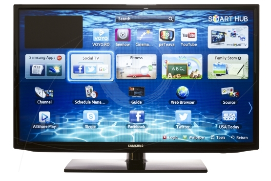 Smart TV with Samsung Apps and Web Browser