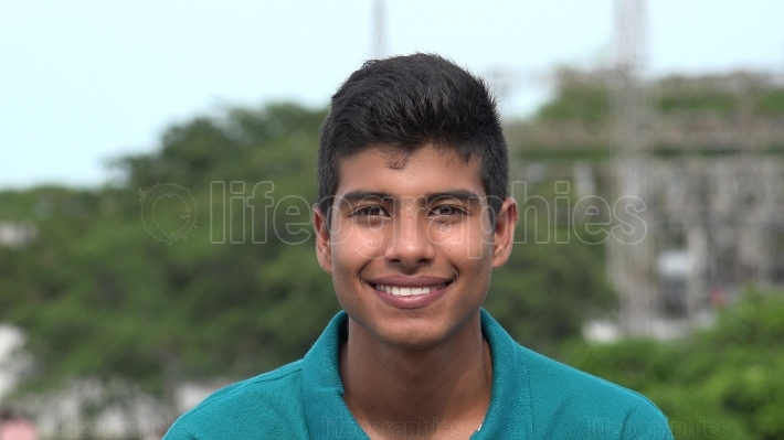 Smiling Confident Teen Boy With Nice White Teeth