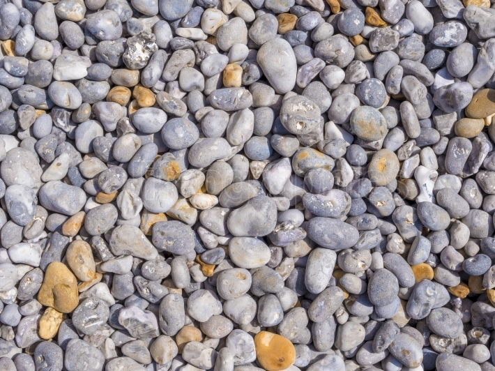 Smooth pebbles of different colors and sizes