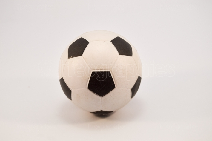 Soccer ball in white and black