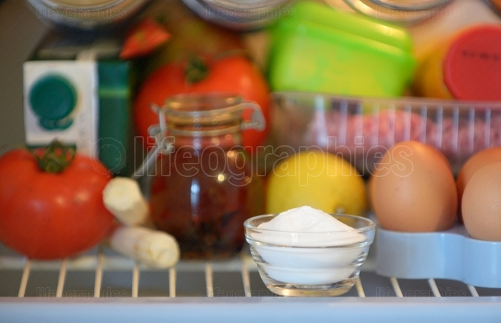 Sodium bicarbonate inside of fridge