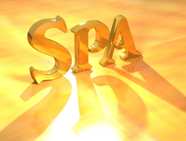 Spa Gold Text