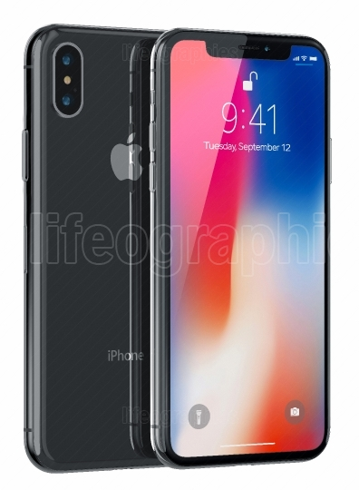 Space Gray Apple New iPhone X