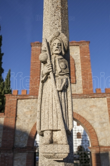 St  James sculpture passing through The Silver Route or Mozarabi