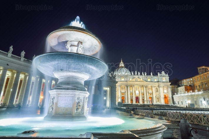 St. Peter's Basilica in Vatican, Rome  Italy