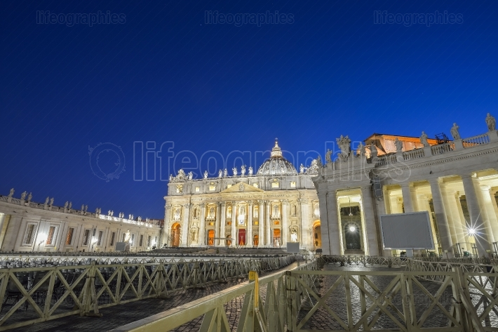 St. Peter's Square in Vatican, Rome  Italy