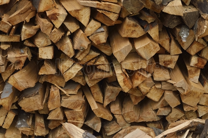 Stack of dry firewood