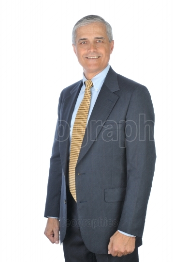 Standing Businessman with Arms at Side