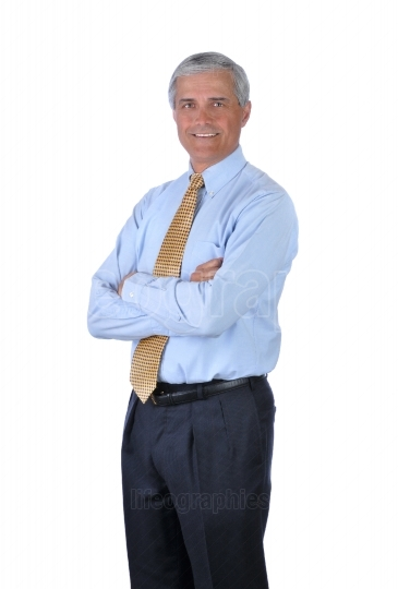 Standing Businessman with arms crossed