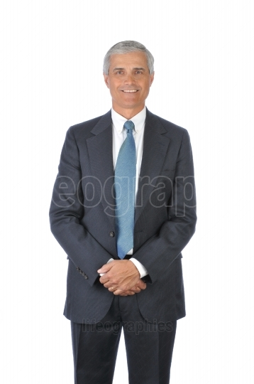 Standing Businessman with hands in front