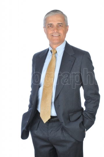 Standing Businessman with hands in pockets