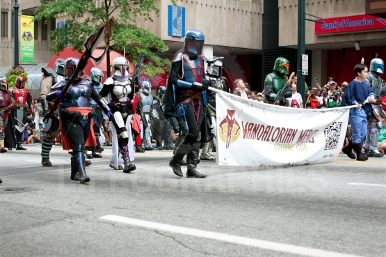 Star Wars Mandalorian Mercenaries Walk In The Dragon Con Parade
