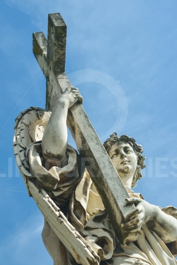 Statue of an angel at the Castel Santangelo in Rome, Italy