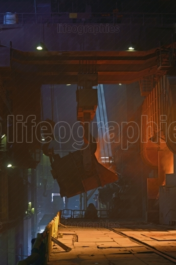 Steel factory workshop