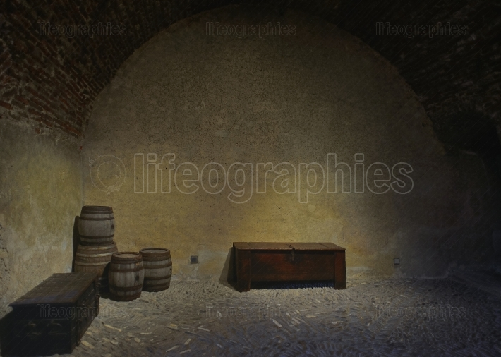 Storage room from gruyeres castle, switzerland