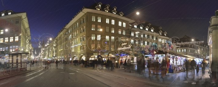 Streets from bern on christmas december