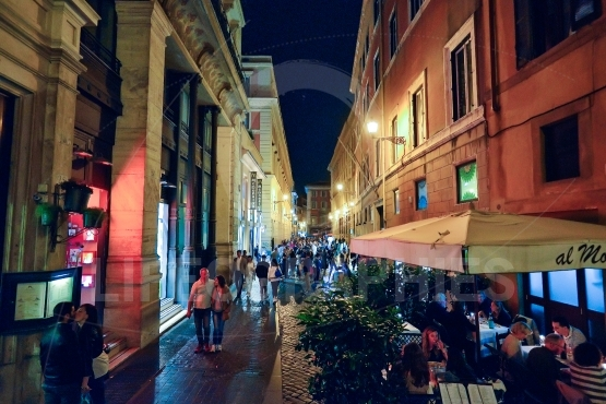 Streets of Rome by night