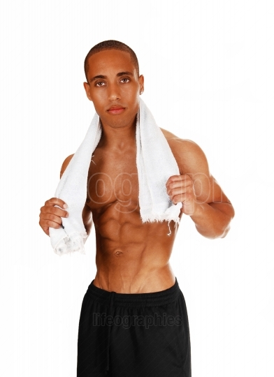 Strong guy with towel