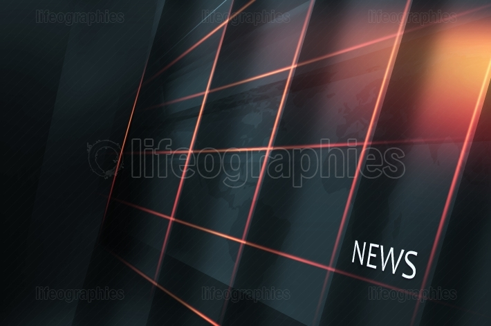 Studio High Tech Display Screen with Multiple Grid Lines and New