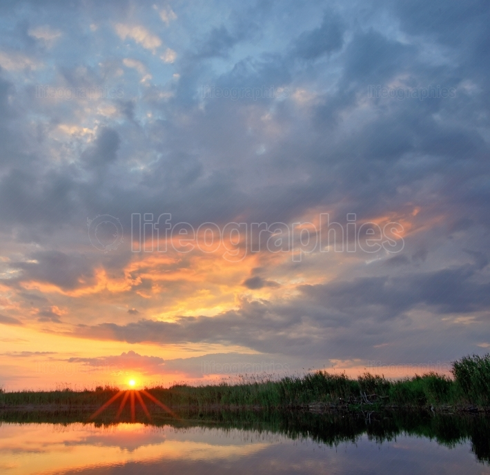 Sunset on Danube Delta
