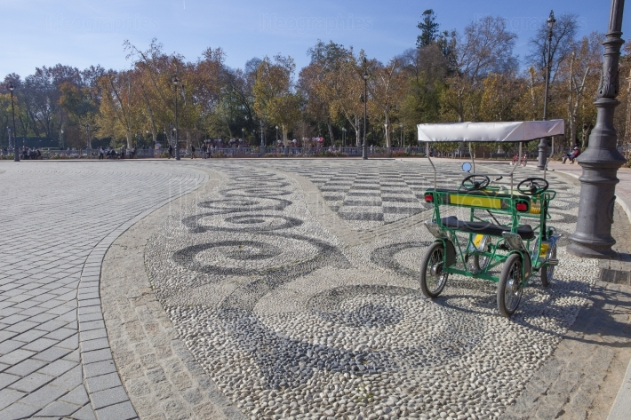 Surrey bike ready for rent, Plaza de Espana, Seville