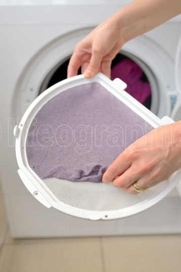 Taking the lent of Dryer Machine
