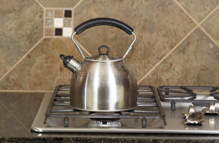 Tea Pot on Stove Top