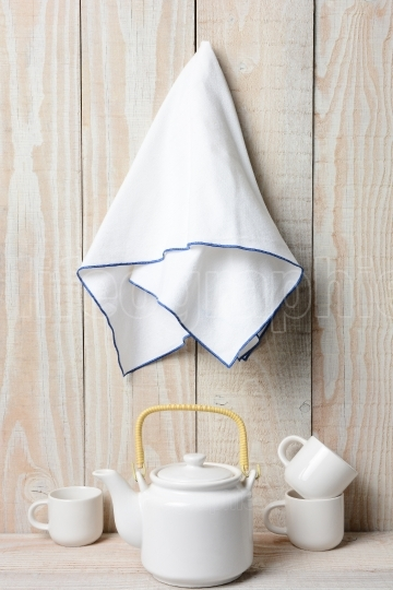 Tea Set and Towel