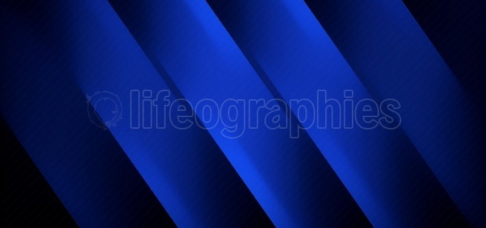 Techy Blue Black Straight Lines Abstract