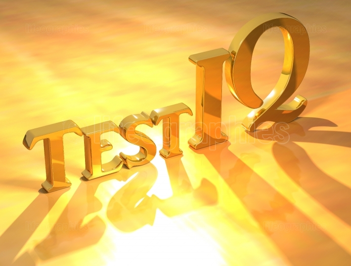 Test IQ Gold text