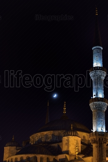 The Blue Mosque - Istanbul at night