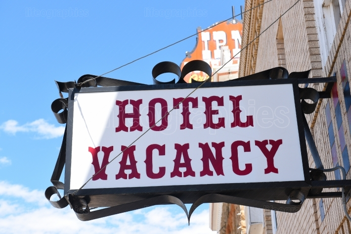 The Irma Hotel Vacancy Sign