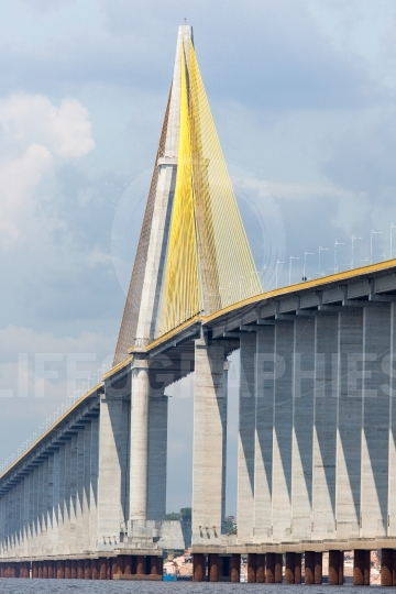 The manaus iranduba bridge (called ponte rio negro in brazil) is a bridge over the rio negro with 3595 meters of length that links the cities of manaus and iranduba  it was opened on oct 24, 2011