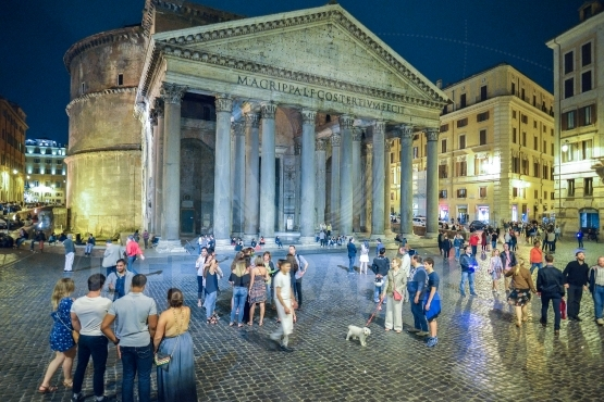 The pantheon building in rome, italy