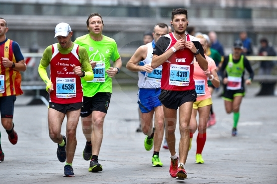 The traditional annual marathon in florence