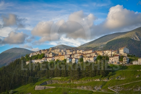 The village of opi at abruzzo national park in italy