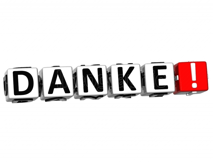 The word Danke   Thank you in many different languages