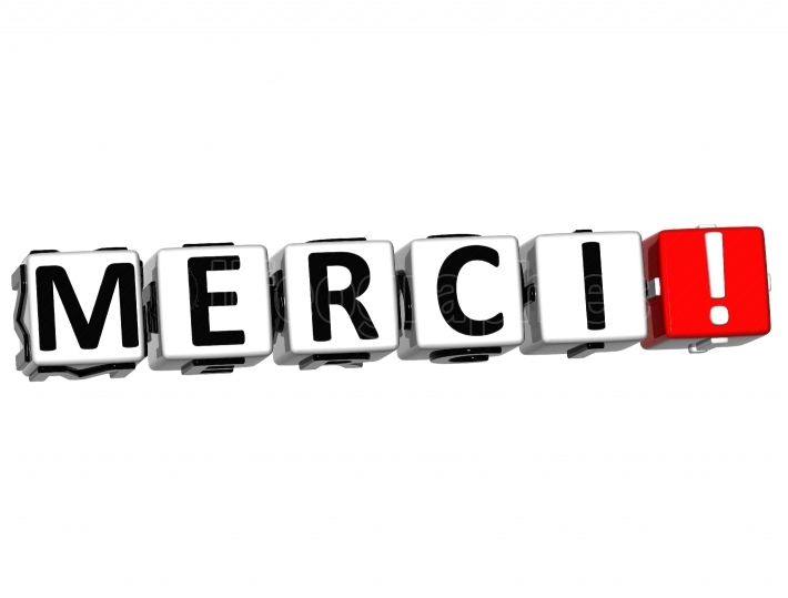 The word Merci   Thank you in many different languages