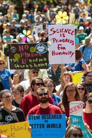 Thousands Gather At Earth Day Rally And March For Science