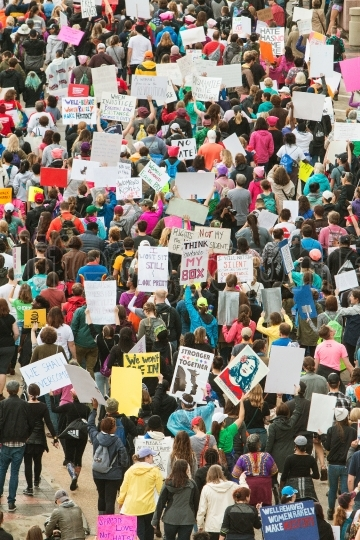 Thousands Protest At Atlanta March For Social Justice And Women