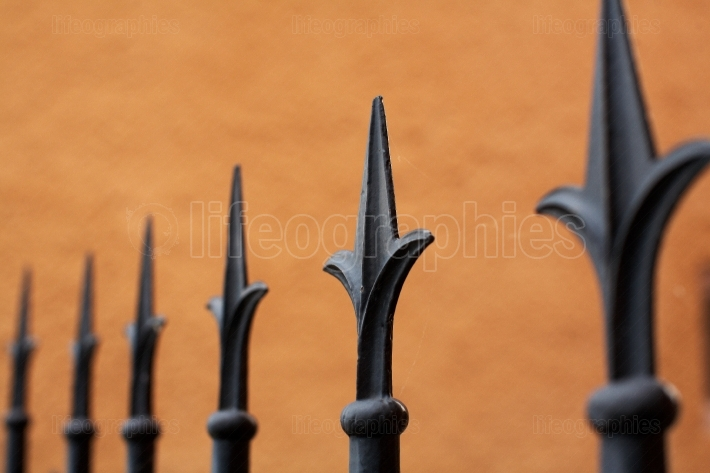 Tips on a fence