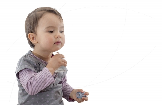 Toddler with perfume