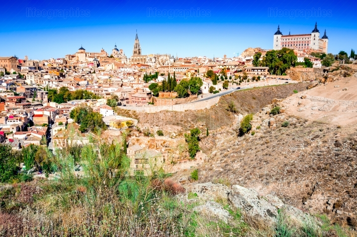 Toledo and Tejo River, Castilla, Spain