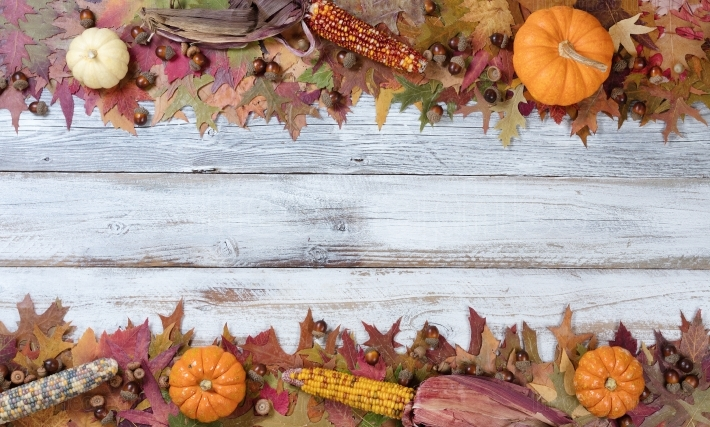 Top and bottom borders of Autumn Seasonal Decorations