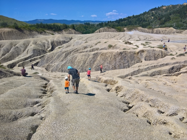 Tourists at Mud Volcanoes